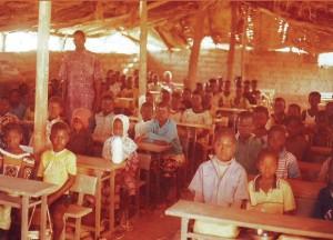Schulklasse in Gonsin